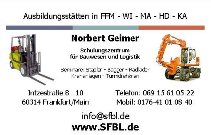 Seminare Staplerführerschein, Staplerschein F