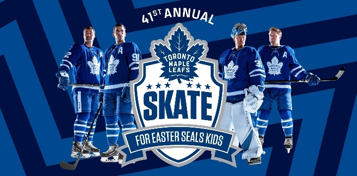 Toronto Maple Leafs Skate for Easter Seals Ki