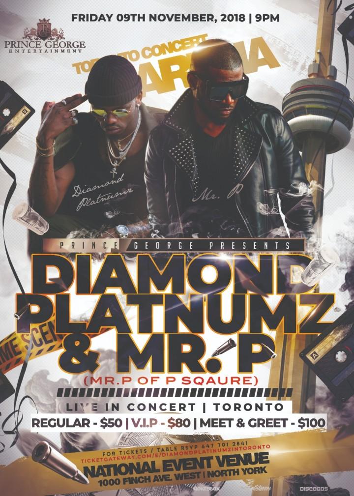 DIAMOND PLATNUMZ & PSQUARE LIVE IN TORONTO