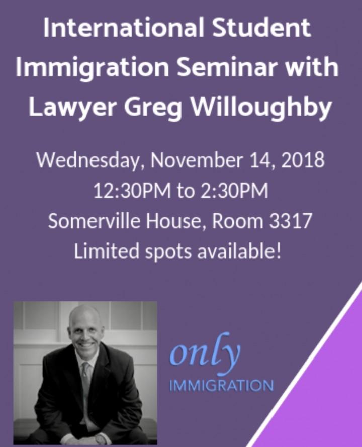 SOGS Immigration Seminar for UWO Internationa