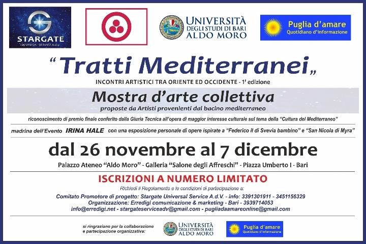 """MOSTRA COLLETTIVA """"TRATTI MEDITERRANEI"""" Incontri Artistici tra Oriente e Occidente 1° Edizione"""