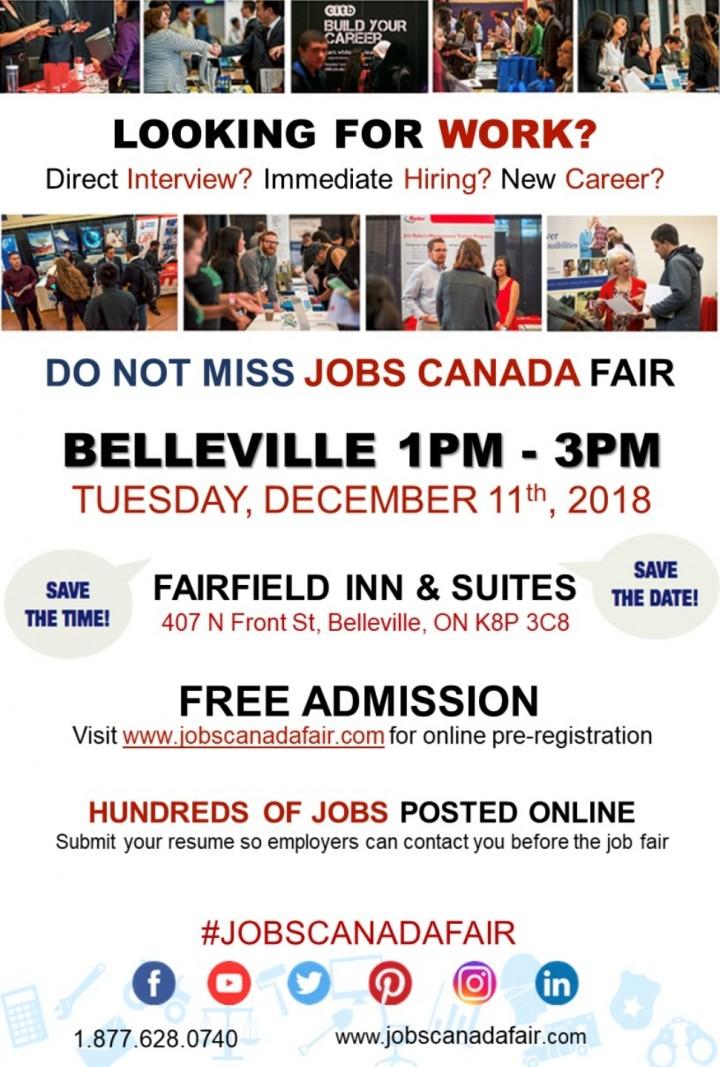 BELLEVILLE JOB FAIR - December 11th, 2018