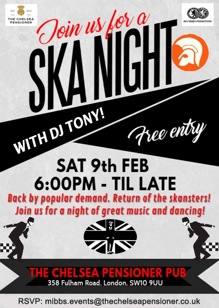 SKA with DJ Tony