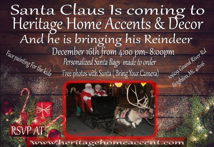 Santa Claus With Live Reindeer