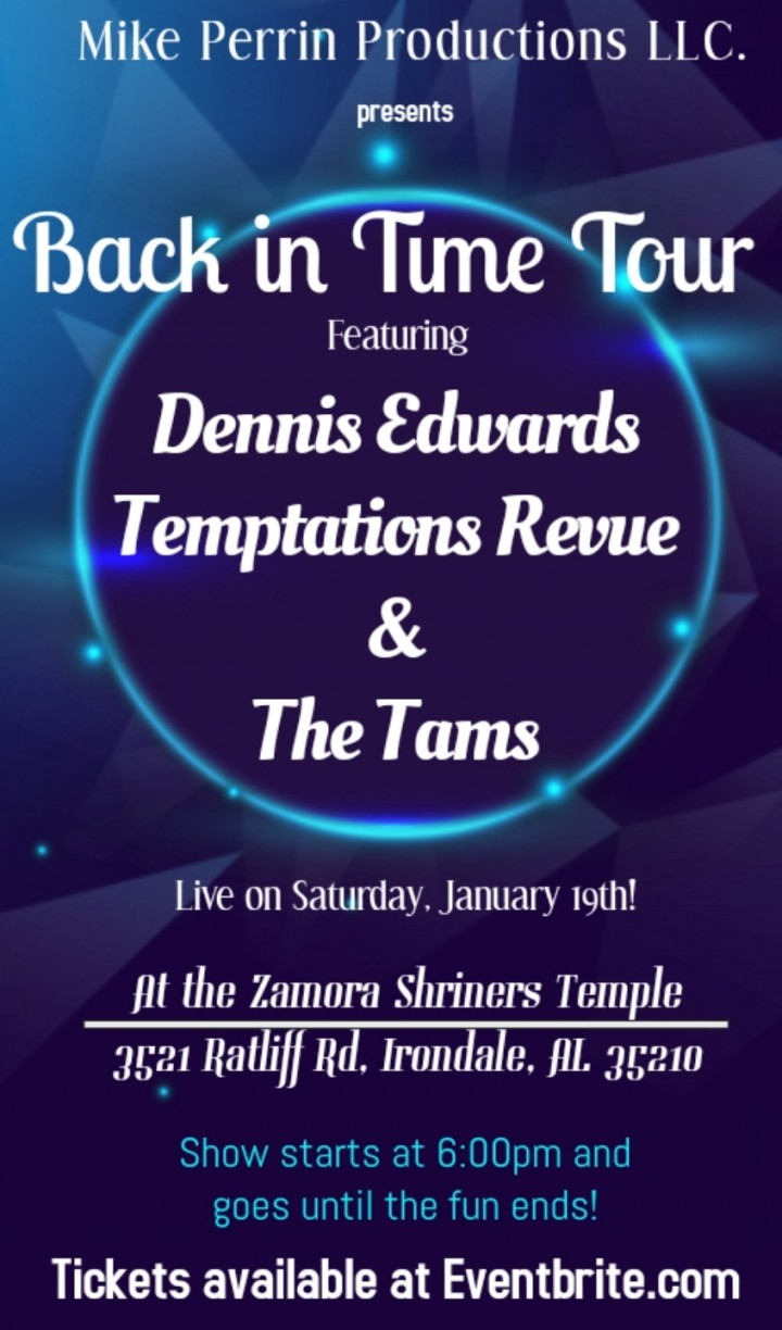 Back in Time Tour - Dennis Edwards Temptation