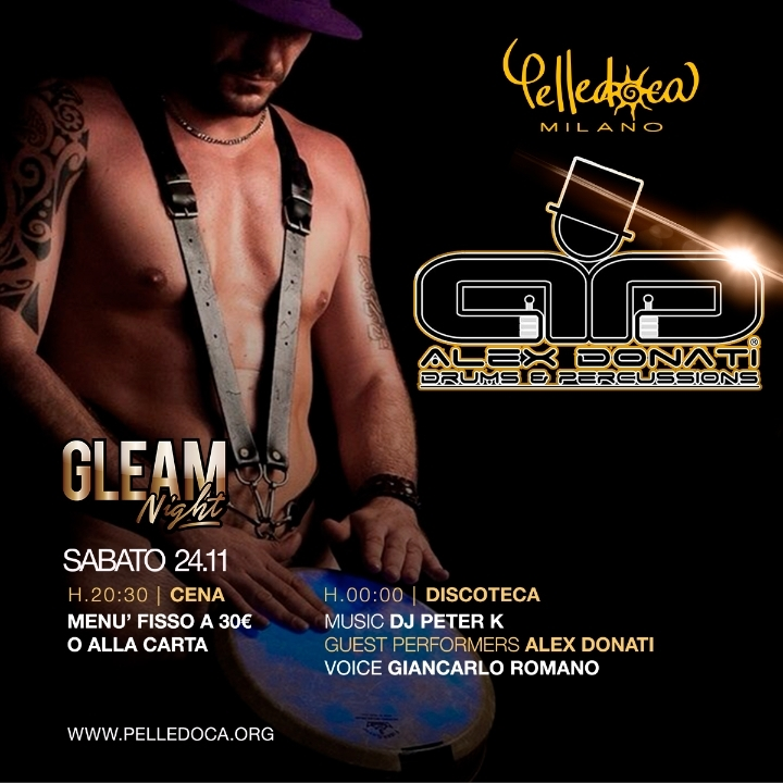 Sabato GLEAM è Drums & percussion