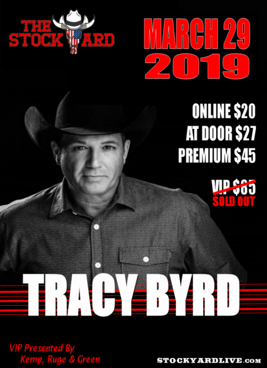 Tracy Byrd Live in Concert at The Stockyard -
