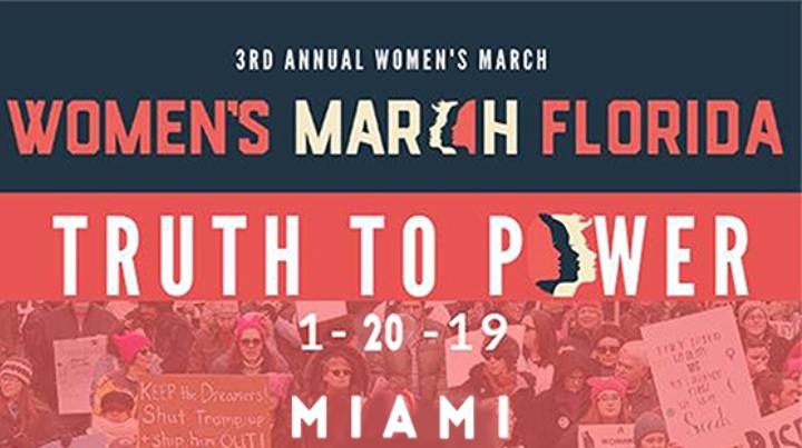 New Miami Florida Women's March January 20 20