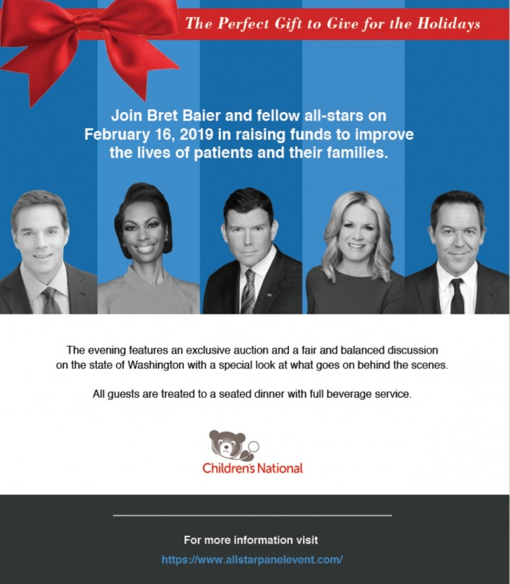 Join Bret Baier, Martha MacCallum, Harris Faulkner, Greg Gutfeld and Bill Hemmer in Support of Children's National Hospital