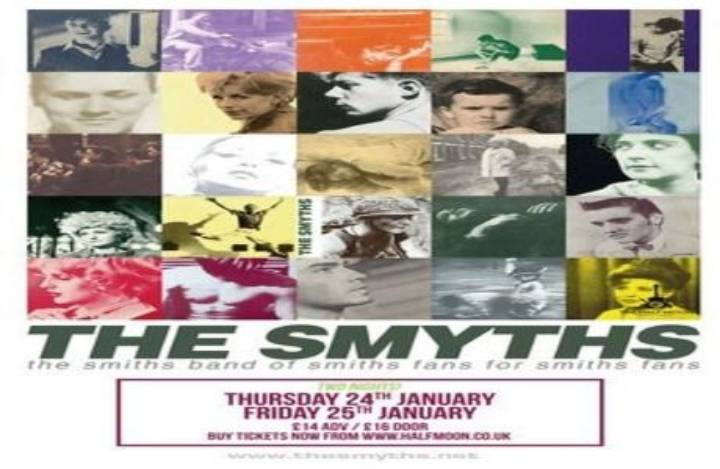 The Smyths: Smiths Tribute band live at Half Moon Putney London Thur 24 Jan