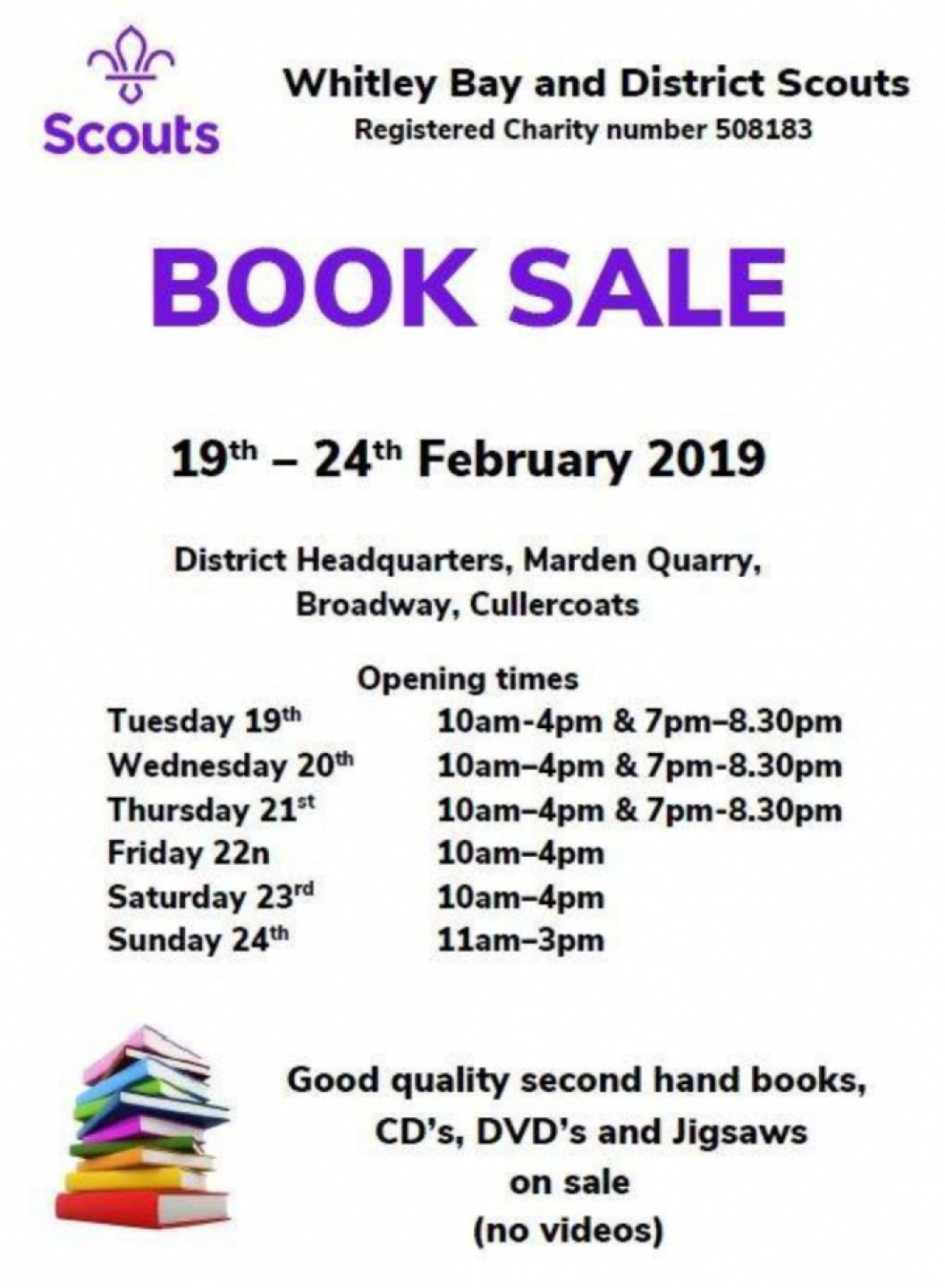 Whitley Bay & District Scouts - Book Sale 201