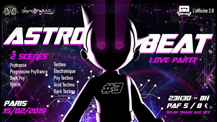ASTRO BEAT #3 | Love party - Psytrance et Tec