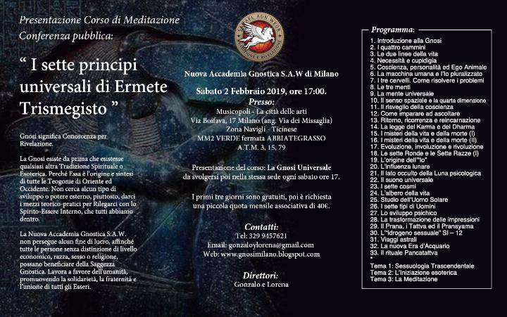 Milano: Inizio Corso di Meditazione: La Gnosi Universale - Febbraio 2019