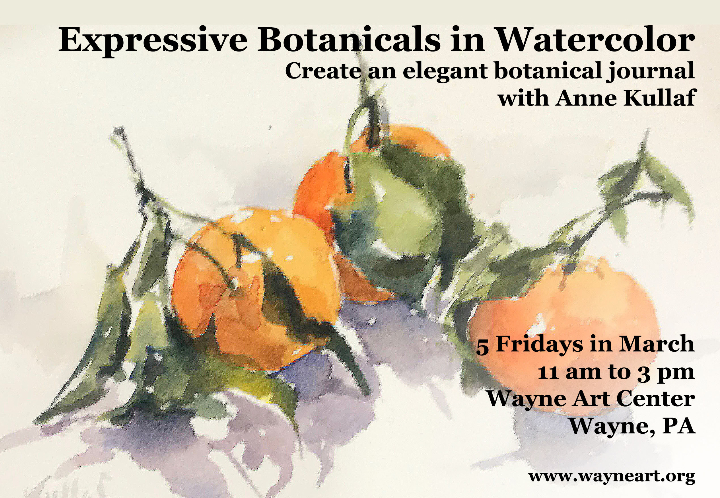 Expressive Botanicals in Watercolor