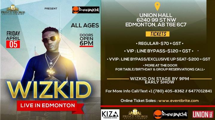 Wizkid Live In Edmonton