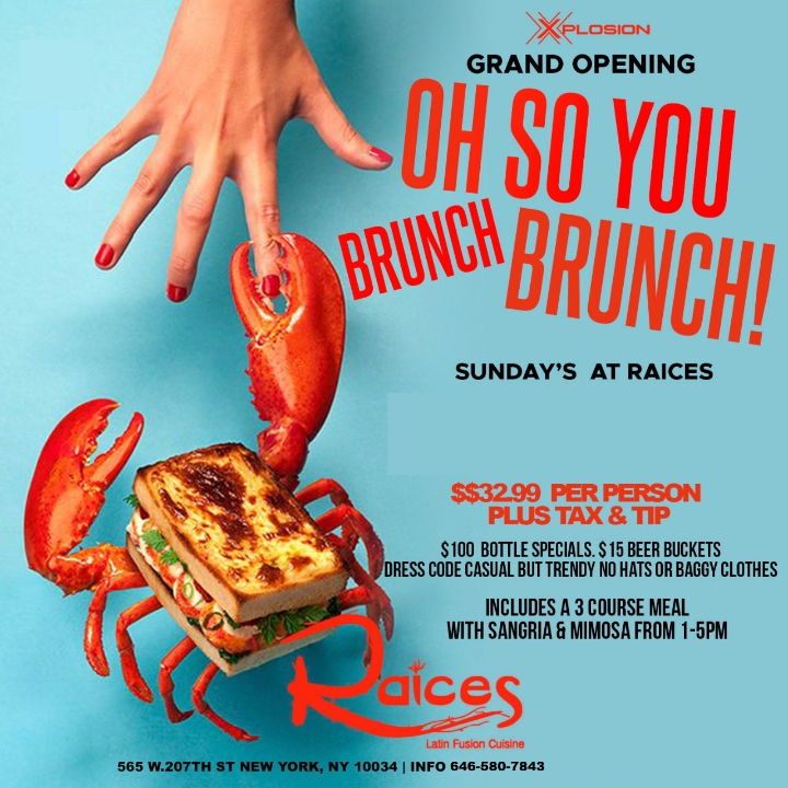 OH! SO YOU BRUNCH BRUNCH?! SUNDAYS
