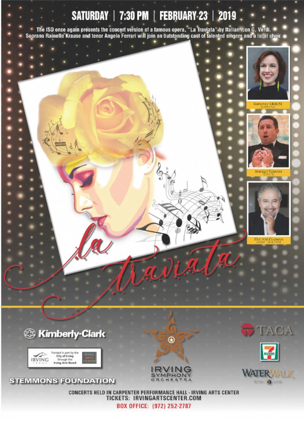 Irving Symphony presents `LA TRAVIATA` in Concert on Feb. 23, 2019