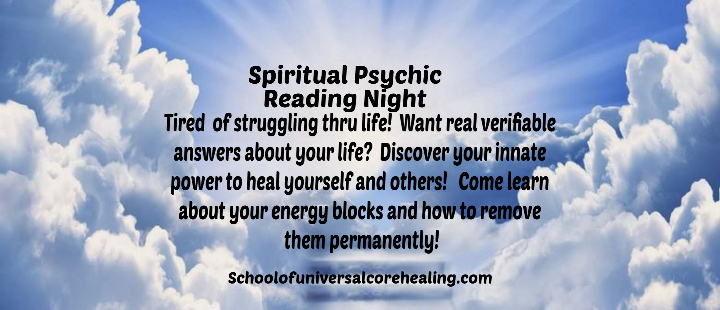Spiritual Psychic Reading Night