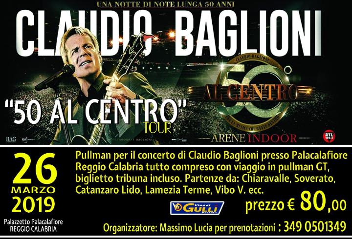 pullman per concerto Baglioni