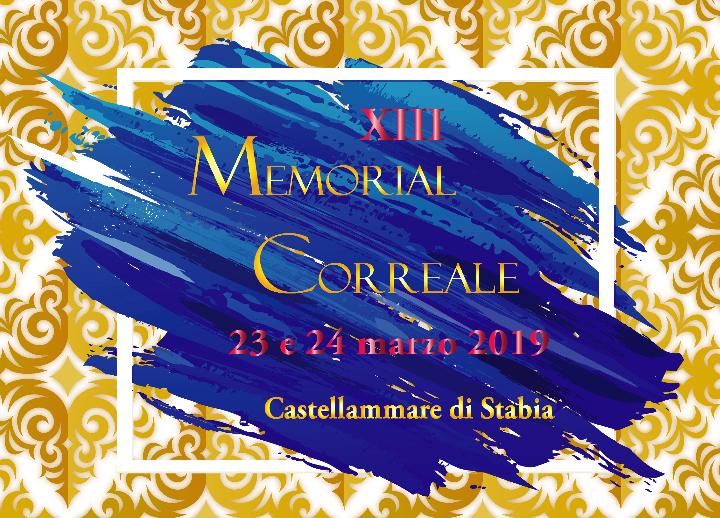 XIII Memorial Correale - 23 e 24 marzo 2019