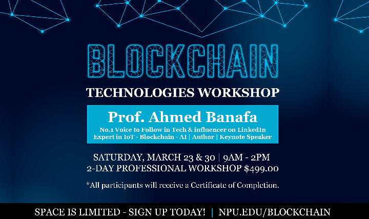 Blockchain Technologies Workshop - 2 days Mar