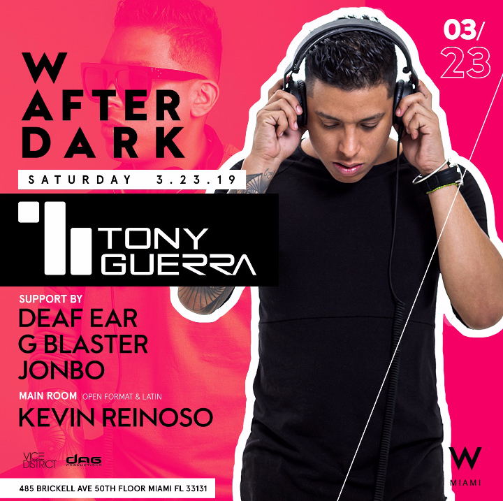 DJ Tony Guerra at W Miami Rooftop