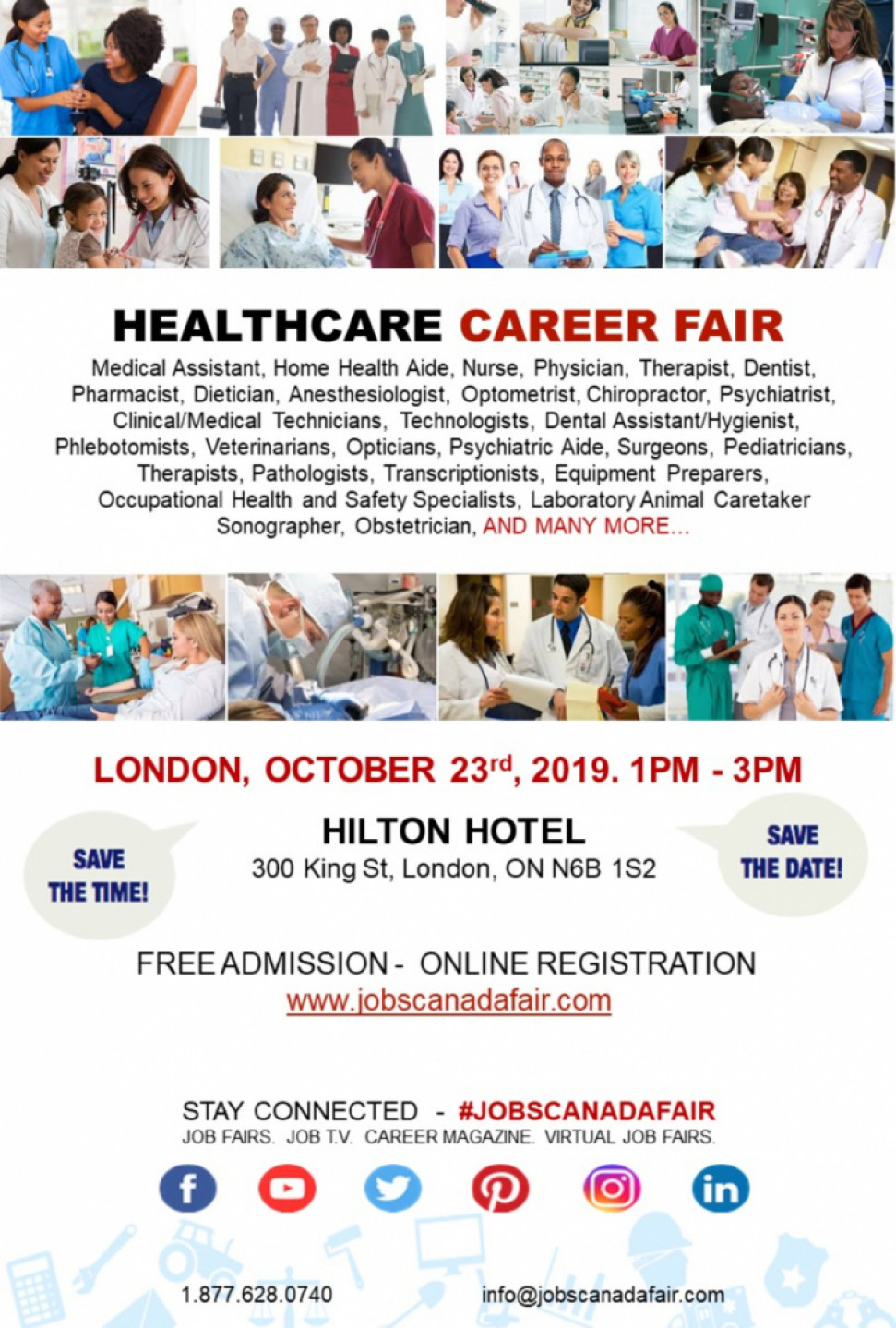 London Healthcare Career Fair - October 23rd, 2019