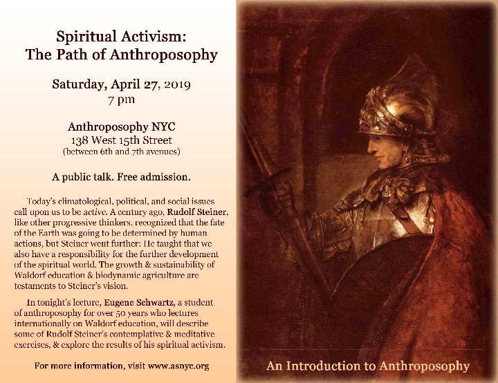 Spiritual Activism: The Path of Anthroposophy