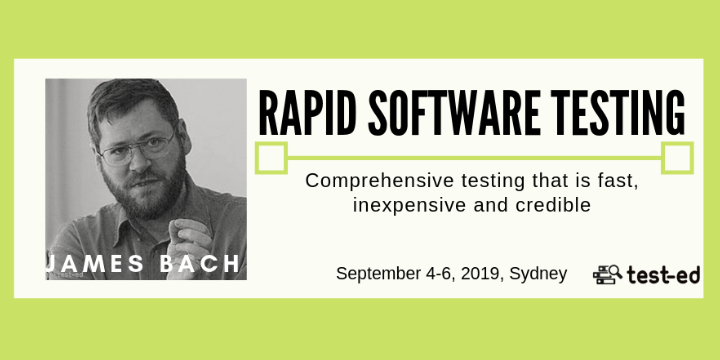 Rapid Software Testing -by James Bach