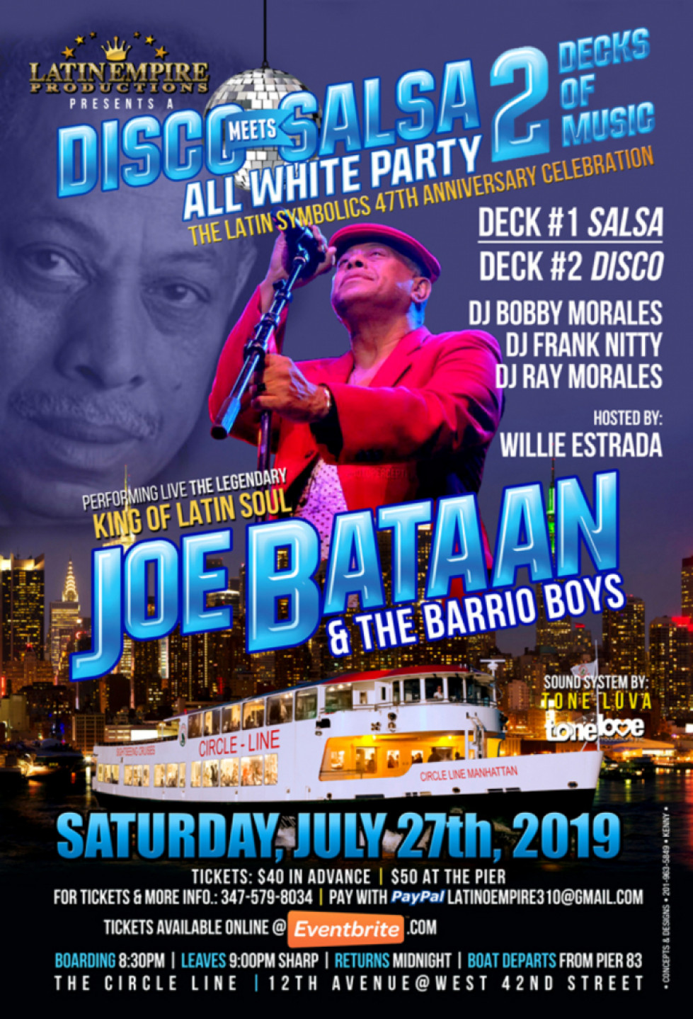 Latin Empire Presents Disco Meets Salsa 2 All White Party