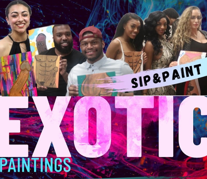 MIAMI EXOTIC PAINTINGS SIP N PAINT BYOB WITH NUDE Male MODELS