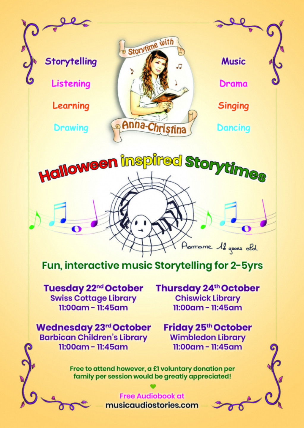 Storytime with Anna-Christina - Halloween Inspired Storytimes!