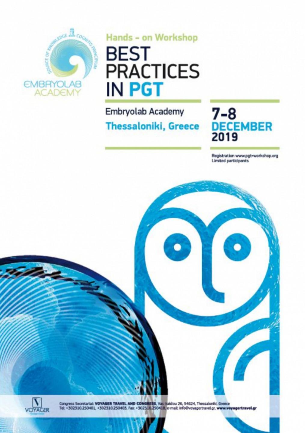 Hands - on Workshop BEST PRACTICES IN PGT