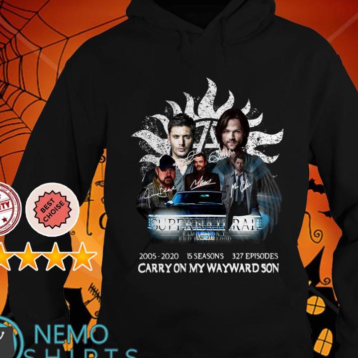 Supernatural 2005 2020 15 season Carry On My Wayward Son shirt
