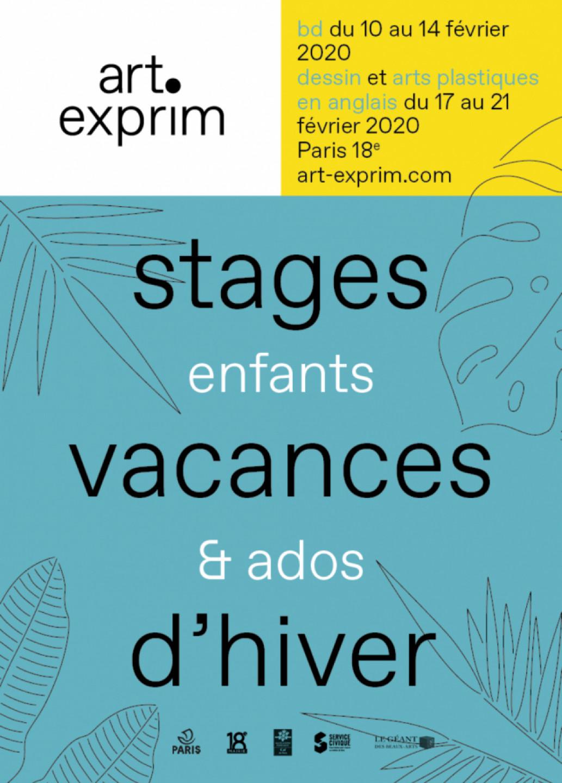 Stages artistiques vacances d'hiver 2020 - Enfants & ados