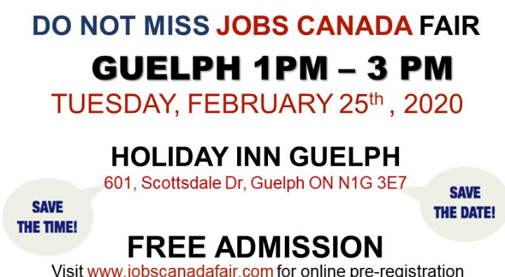 Guelph Job Fair – February 25th, 2020