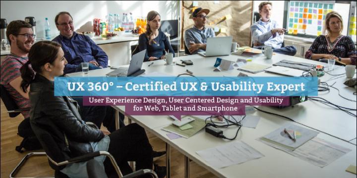 UX 360° – Certified UX & Usability Expert (eng.), Berlin